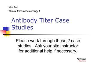 Antibody Titer Case Studies