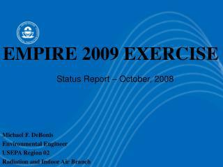 Status Report – October, 2008