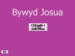 Bywyd Josua