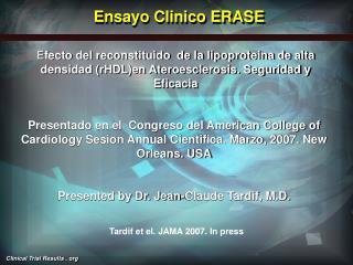 Ensayo Clinico ERASE