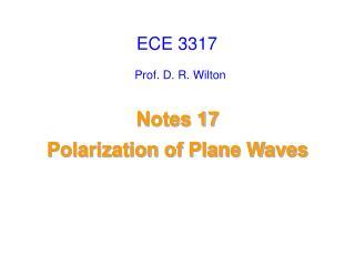 Prof. D. R. Wilton