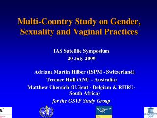 Multi-Country Study on Gender, Sexuality and Vaginal Practices