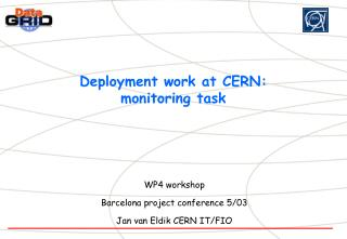 Deployment work at CERN: monitoring task
