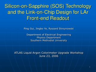 Silicon-on-Sapphire (SOS) Technology  and the Link-on-Chip Design for LAr Front-end Readout
