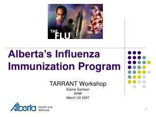 Alberta's Influenza Immunization Program