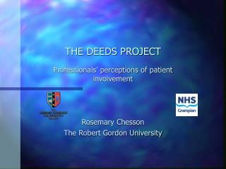 THE DEEDS PROJECT
