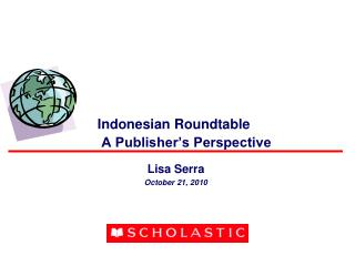 Indonesian Roundtable    A Publisher s Perspective