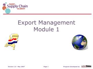 Export Management Module 1
