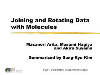 Joining and Rotating Data with Molecules