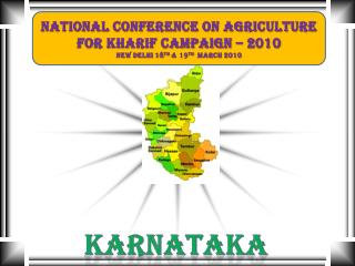 National Conference On Agriculture  For Kharif Campaign � 2010