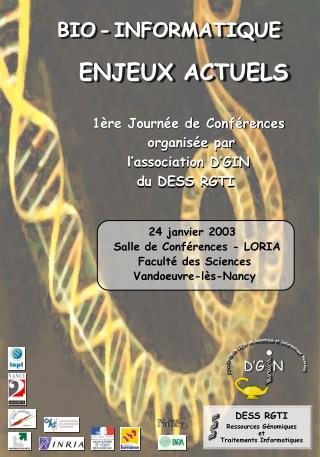 1ère Journée de Conférences  organisée par  l'association D'GIN  du DESS RGTI