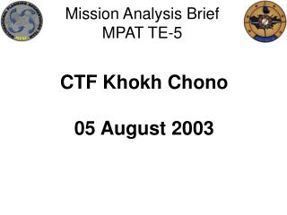 Mission Analysis Brief MPAT TE-5
