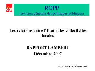 RGPP  (révision générale des politiques publiques)