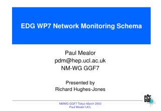 EDG WP7 Network Monitoring Schema