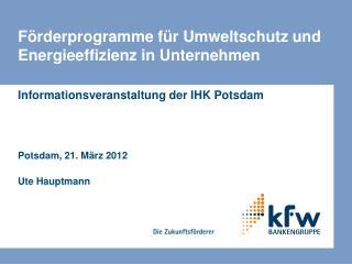 Förderprogramme für Umweltschutz und Energieeffizienz in Unternehmen