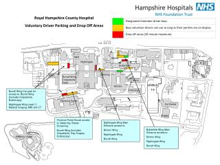 Royal Hampshire County Hospital Voluntary Driver Parking and Drop Off Areas