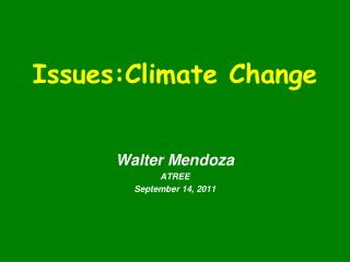 Issues:Climate Change
