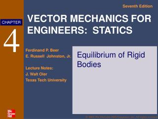 Equilibrium of Rigid Bodies