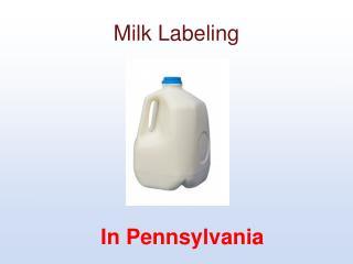 Milk Labeling