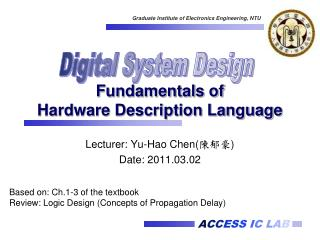 Fundamentals of  Hardware Description Language