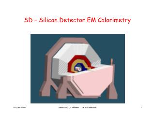 SD – Silicon Detector EM Calorimetry