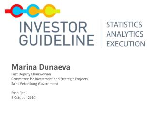 Marina Dunaeva First Deputy Chairwoman Committee for Investment and Strategic Projects