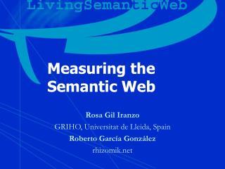 Measuring the  Semantic Web