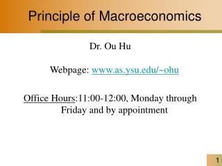 Principle of Macroeconomics