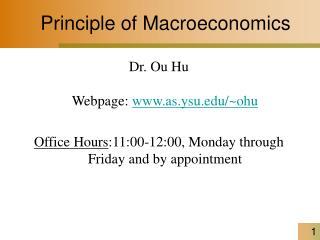Principle of Macroeconomics
