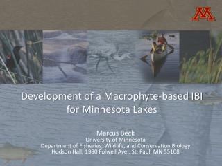 Development of a  Macrophyte -based IBI for Minnesota Lakes