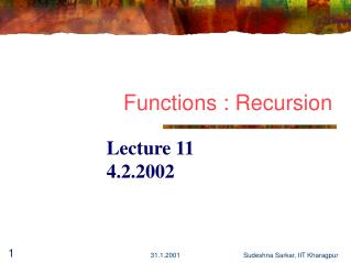 Functions : Recursion