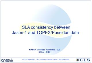 SLA consistency between  Jason-1 and TOPEX/Poseidon data