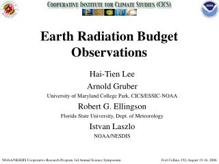 Earth Radiation Budget Observations