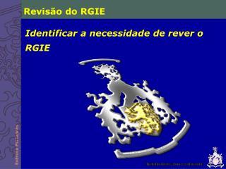 Revisão do RGIE