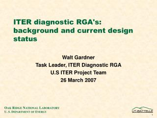 ITER diagnostic RGA's: background and current design status