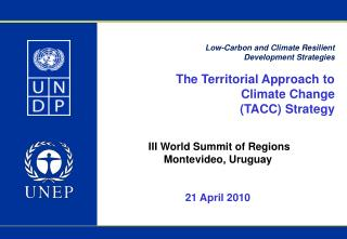 Low-Carbon and Climate Resilient  Development Strategies The Territorial Approach to