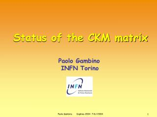 Status of the CKM matrix