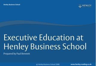 Executive Education at Henley Business School