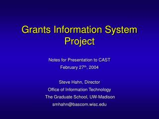 Grants Information System Project