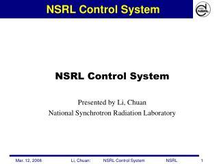 NSRL Control System