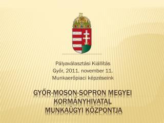 Győr-moson-sopron  megyei kormányhivatal  Munkaügyi Központja