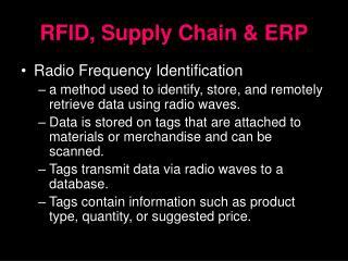 RFID, Supply Chain & ERP