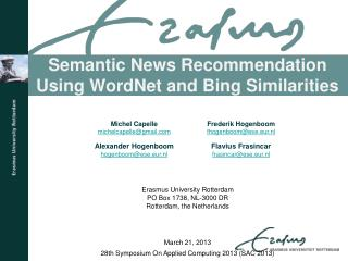 Semantic News Recommendation Using  WordNet  and  Bing  Similarities