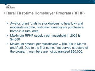 Rural First-time Homebuyer Program (RFHP)