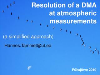 Resolution of a DMA at atmospheric measurements