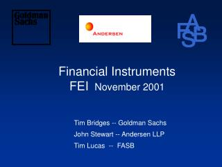Financial Instruments FEI   November 2001