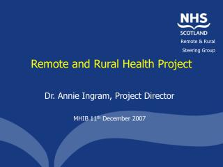 Remote and Rural Health Project