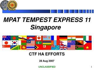 MPAT TEMPEST EXPRESS 11 Singapore