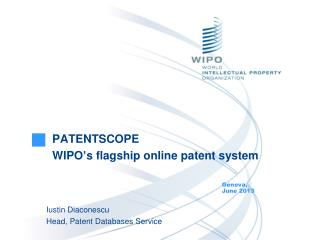 PATENTSCOPE WIPO's flagship online patent system