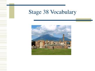 Stage 38 Vocabulary